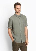Vince Linen Short Sleeve Button Up