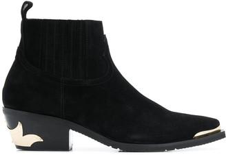 Baldinini Textured Slip-On Ankle Boots