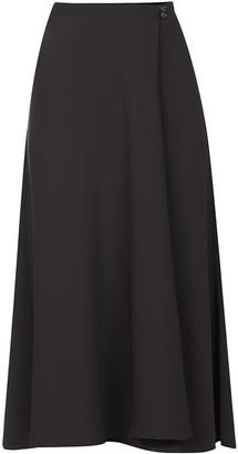 Flow Wrap Skirt In Black