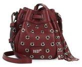 Valentino Eyelet Miscellaneous Leather Shoulder Bag