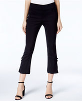 INC International Concepts Petite Bow-Detail Cropped Capri Pants, Only at Macy's
