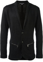 John Varvatos zipped pockets blazer - men - Cotton/Linen/Flax/Other fibres - S