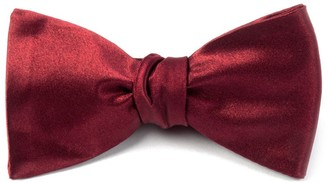 The Tie Bar Solid Satin Burgundy Bow Tie