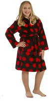 byLora Terry girls hooded robes, cotton bathrobe, BLACK, RED