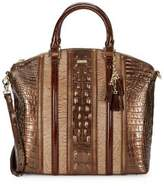 Brahmin Patina Embossed Leather Tote