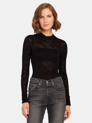 Free People What's the Pointelle Mock Neck Bodysuit