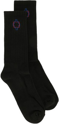 Marcelo Burlon County of Milan Logo Embroidered Socks