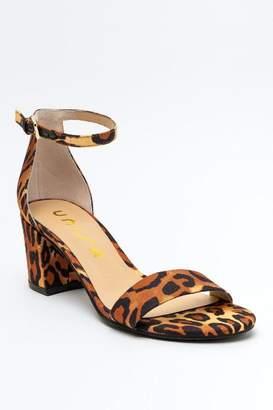 Unisa Rewni Ankle Strap Block Heel - Leopard