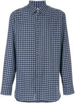 Brioni tartan check shirt