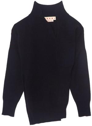 Marni Long Sleeve V-Neck Sweater in Ultramarine
