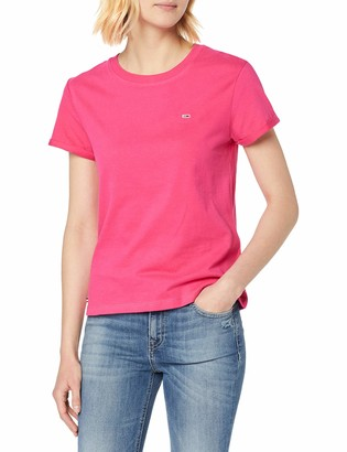 Tommy Jeans Women's TJW Relaxed ROLL UP Sleeve TEE T-Shirt