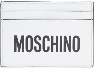 Moschino White Logo Card Holder