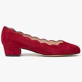John Lewis Aiyana Scalloped Block Heeled Court Shoes