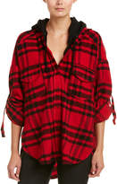 The Kooples Hooded Plaid Wool-Blend Shirt