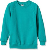 Fruit of the Loom Childrens Unisex Raglan Sleeve Sweatshirt