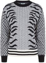 Kenzo Embellished Geometric Knit Sweater