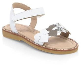 Elephantito Baby's, Little Girl's & Girl's Caro Heart Leather Sandals