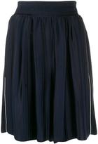 Golden Goose side-stripe flared shorts