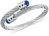 Charriol Women's Celtic Lapis Lazuli-Accent Stainless Steel Cable Bangle Bracelet