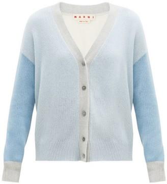 Marni Colour-block Cashmere Cardigan - Blue Multi