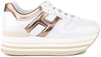 Hogan White Leather Maxi H222 Sneaker