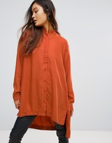 WÅVEN Agnes High Low Tunic Shirt