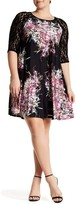 Taylor Printed Jersey and Lace Dress (Plus Size)