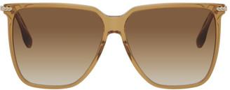 Victoria Beckham Brown Oversized Square Glasses