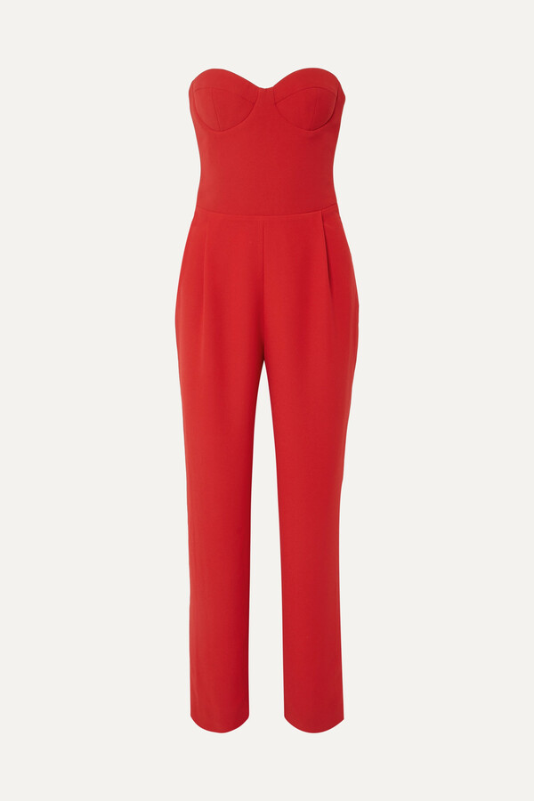 Thumbnail for your product : Rasario Strapless Crepe Jumpsuit
