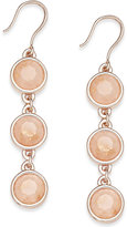 Charter Club Rose Gold-Tone Pink Stone Triple Drop Earrings, Only at Macy's