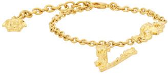 Versace Gold V Leaves Bracelet