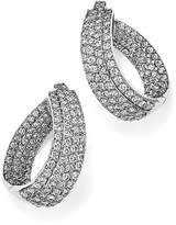 Bloomingdale's Diamond Multi Row Inside Out Oval Hoop Earrings in 14K White Gold, 4.70 ct. t.w. - 100% Exclusive