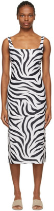 Maryam Nassir Zadeh SSENSE Exclusive White and Black Salma Dress