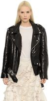 Marques Almeida Oversized Nappa Leather Biker Jacket