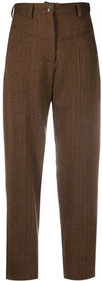 Simonetta Ravizza Herringbone Pattern Trousers