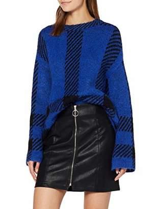 New Look Women's Zip Through Pu Skirt,14 (Size:)