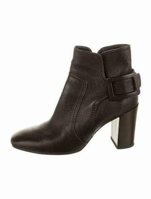 Roger Vivier Leather Boots Brown