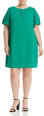 Adrianna Papell Plus Blouson-Sleeve Shift Dress