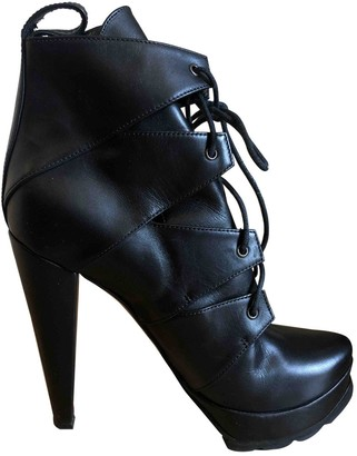 Walter Steiger Black Leather Ankle boots