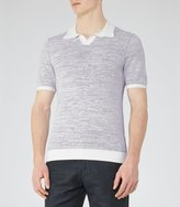Reiss Thompson - Textured Polo Shirt in Black, Mens