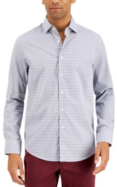 Tasso Elba Men's Geo Print Shirt, Created for Macy's