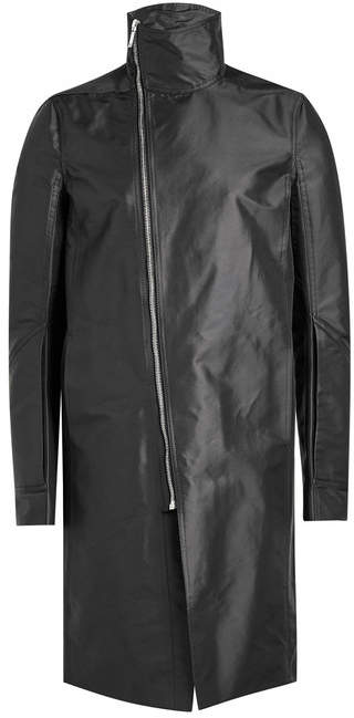 Rick Owens Coat with Asymmetric Zipper