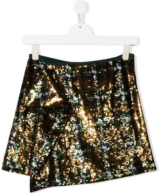 Alberta Ferretti Kids Sequin-Embellished Skirt