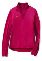 Classic Women's Plus Size Thermaskin Active Half-zip-Silver Frost