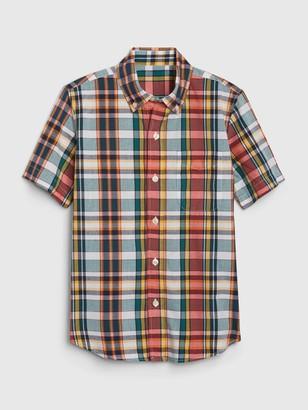 Gap Kids Plaid Button-Down Shirt