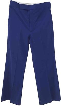 Celine Blue Cotton Trousers