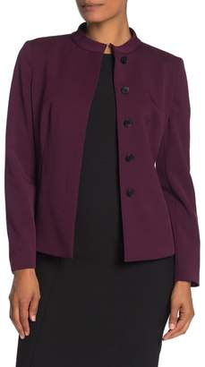 BOSS Jebaly Mandarin Collar Wool Blend Blazer