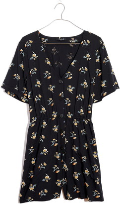 Madewell Daisy Print Button Front Day Romper