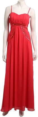 Little Mistress Coral Heavy Embellished Maxi Dress