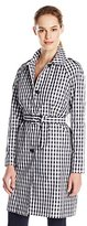 Anne Klein Women's Gingham Trench Coat
